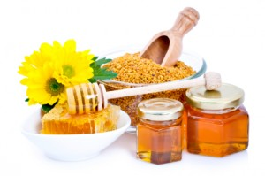 bee pollen and honey